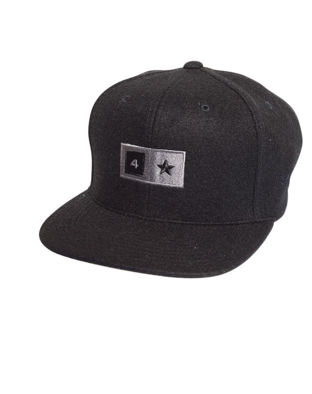 Bar Wool Snapback :: Black