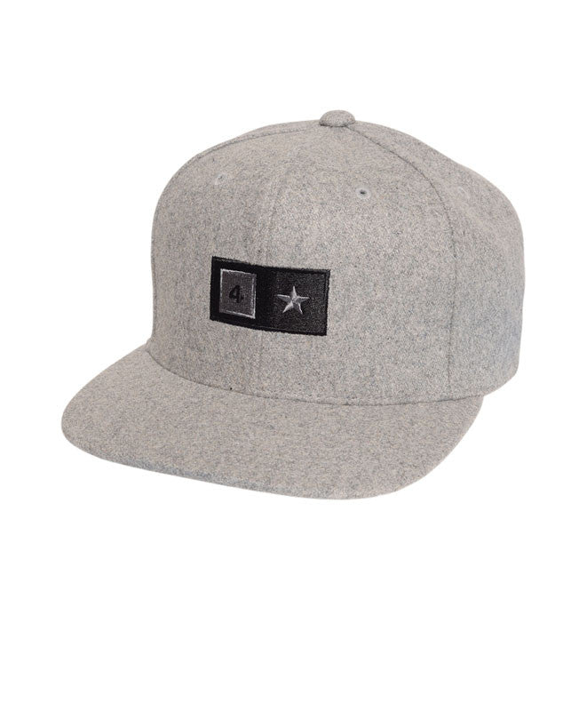 Bar Wool Snapback :: Grey Heather