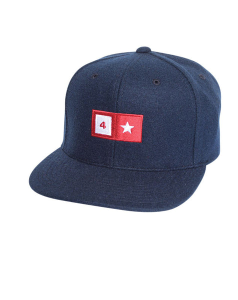 Bar Wool Snapback :: Navy