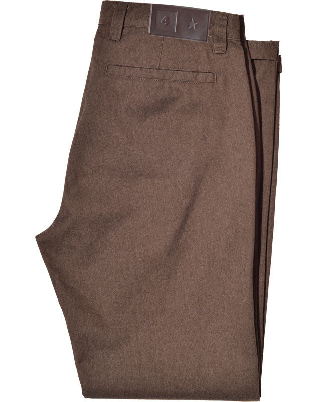 Collective Twill Pant :: Brown Heather