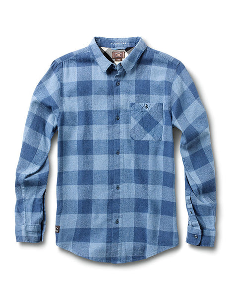 Ishod Buffalo Long Sleeve :: Indigo