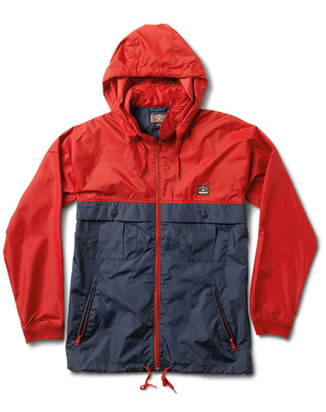Ishod Tour Jacket :: Cardinal and Navy