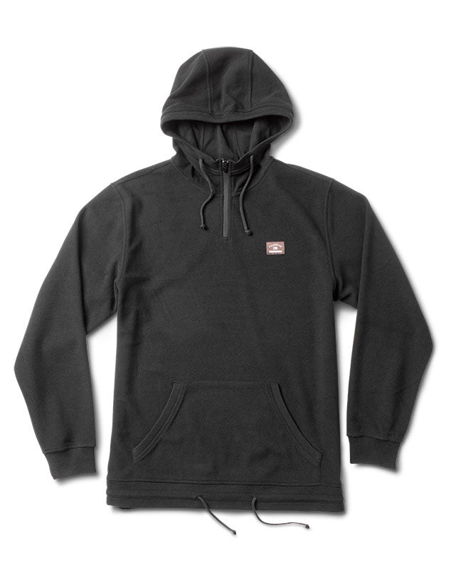 Kennedy Polar Fleece Hood Jacket :: Black