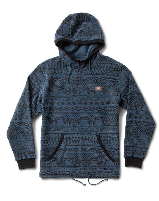 Kennedy Polar Fleece Hood Jacket :: Navy