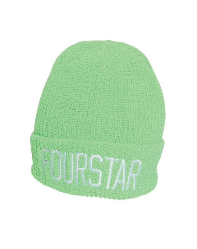 New League Fold Beanie :: Lime Green