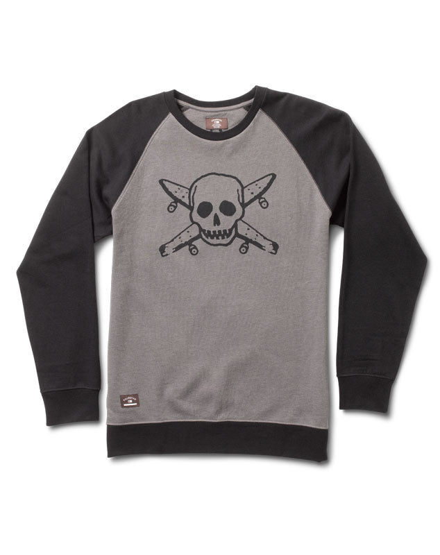 Pirate Raglan Crew :: Black