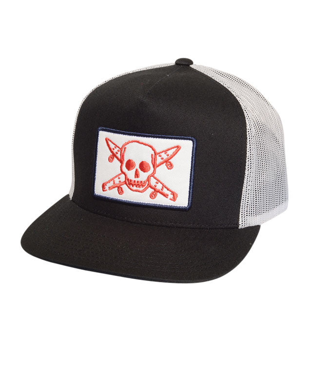 Pirate Patch Trucker :: Black