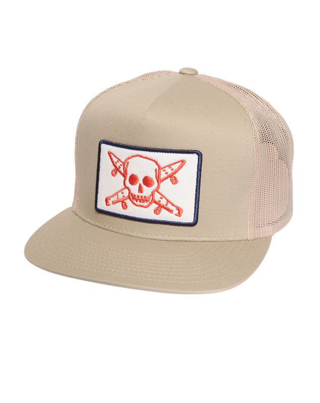 Pirate Patch Trucker :: Khaki