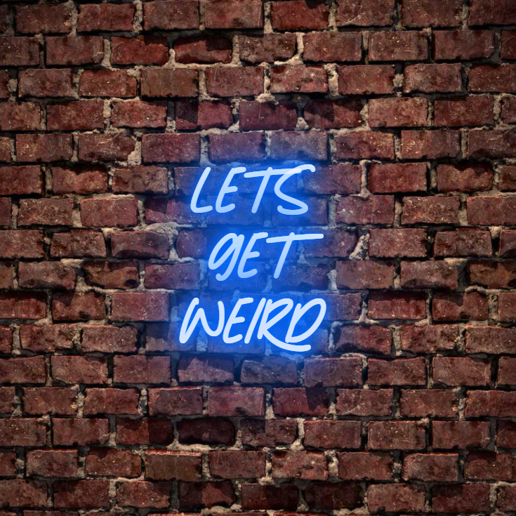 Let's get weird. Say it without saying it, beautiful for a bedroom wall neon sign. Available white, warm white, light pink, red, baby blue, electric blue, apple green, bright orange, deep red and rose purple. Create a neon sign for bedroom or living room. Premium LED neon tubing with 7mm acrylic clear backing, cut to shape. Perfect wall light for your room or business or as a wedding neon light. Free delivery in Australia. Neonlightsigns create the best neon sign 2021 online & affordable custom neon.