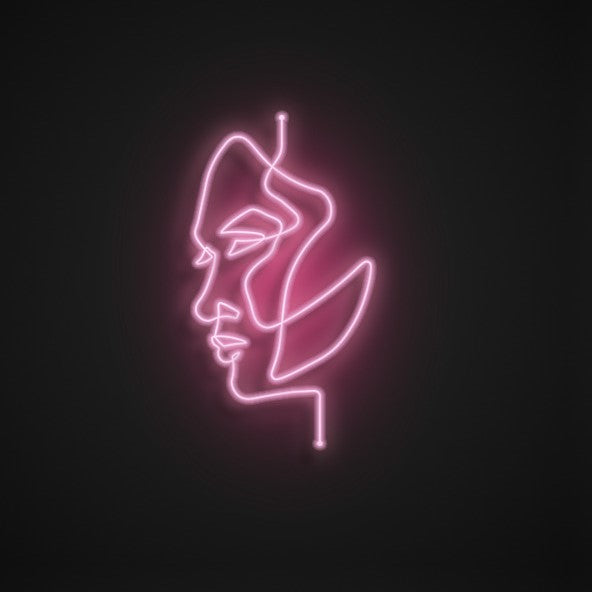 Neon Face Pink