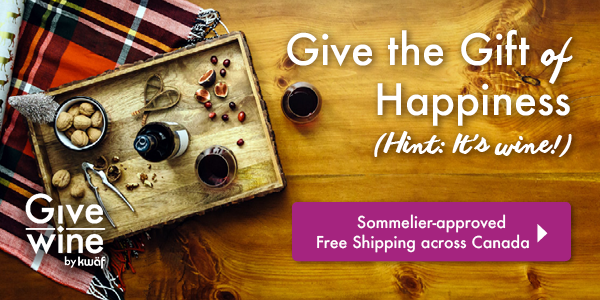 Give the Gift of Happiness. (Hint: it's wine!) Sommelier-approved. Free Shipping across Canada. GiveWine by kwäf.