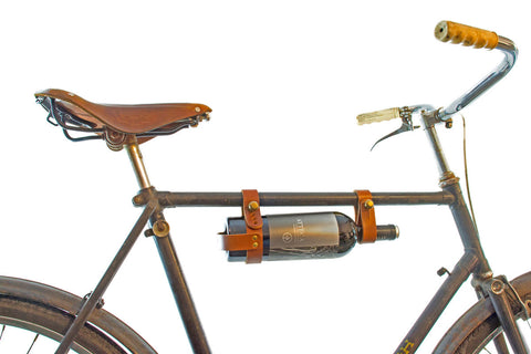leather bicycle wine rack oopsmark