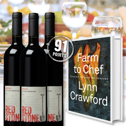 Farm to Chef, Vineyard to Home: Wine & Cookbook Package