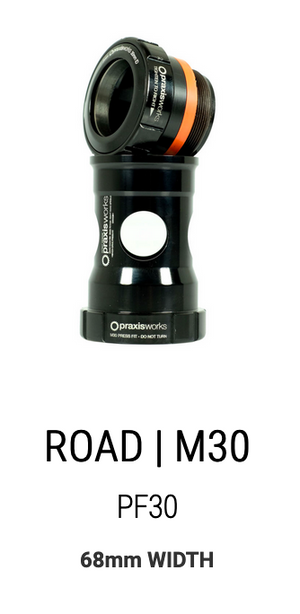 Praxis M30 Custom Bottom Bracket for InfoCrank® - Watts converting to speed.