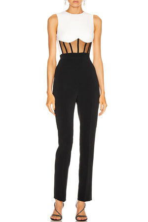 Maxie Bandage Jumpsuit-Black