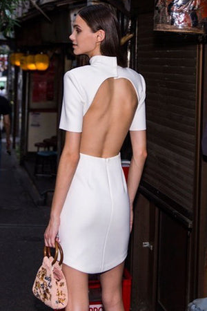Sahara Backless Bandage Dress - White