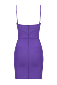 Talia Strap Bandage Dress-Purple