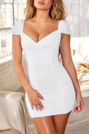Mabel Bandage Dress-White