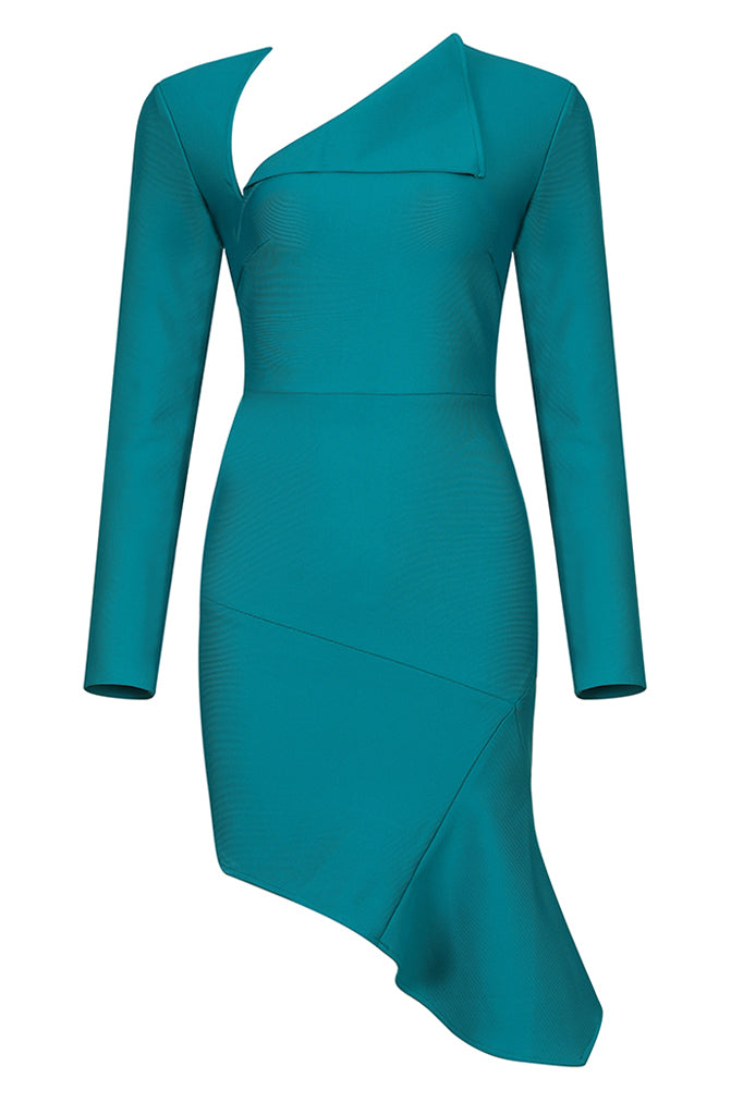 Colleen Bandage Dress-Green