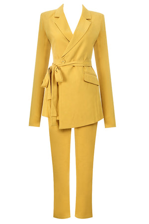 Alethea Two Pieces Sets Suit-Yellow