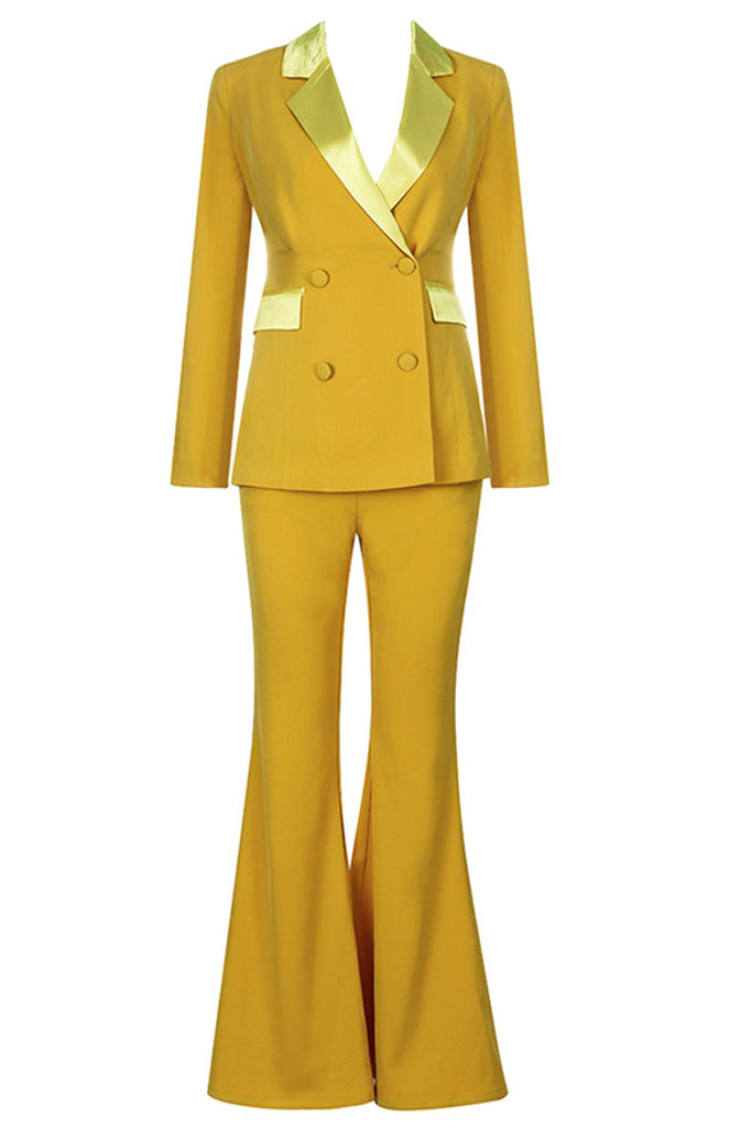 Carmen Two Pieces Sets Suit-Yellow