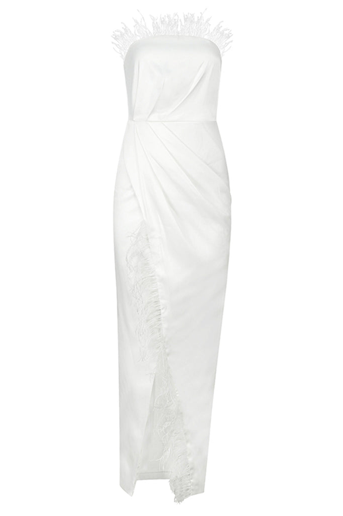 Cathy Strapless Bodycon Dress-White