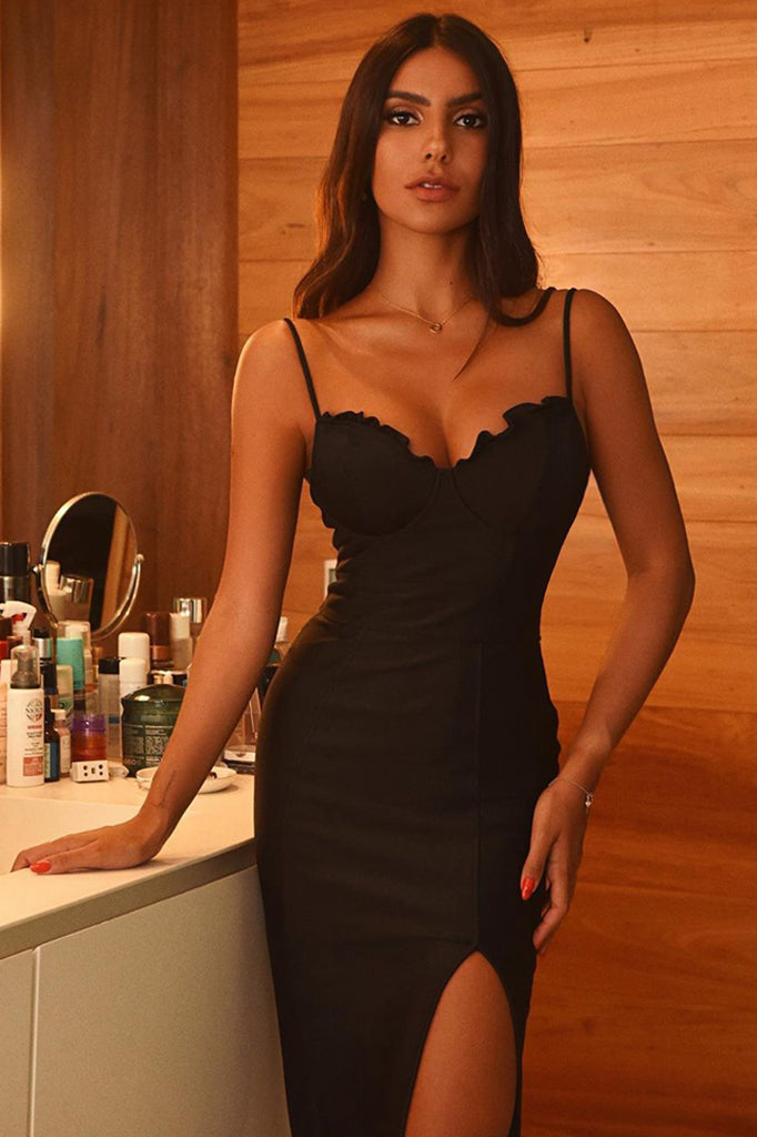 Colleen Bandage Dress-Black