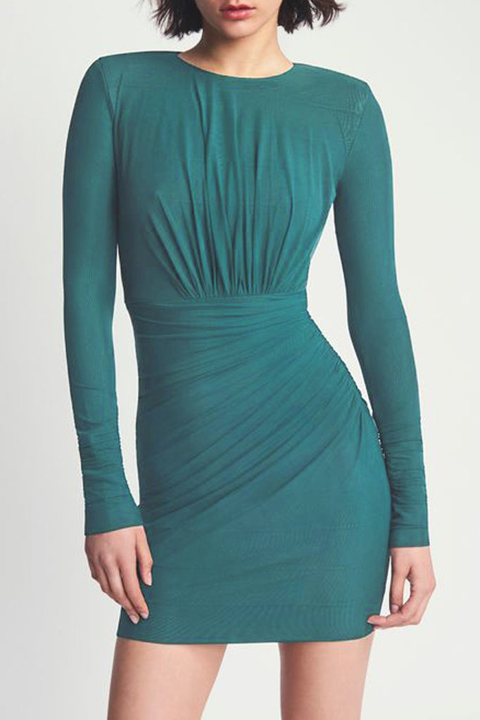 Emma Bandage Dress-Green