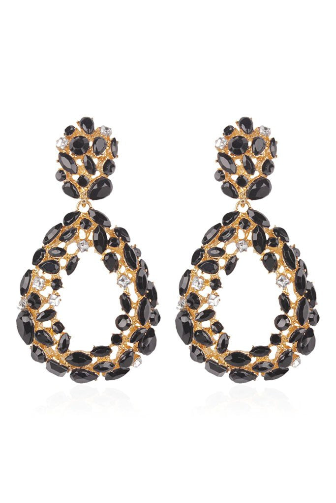 S59A Crystal Earring - Black