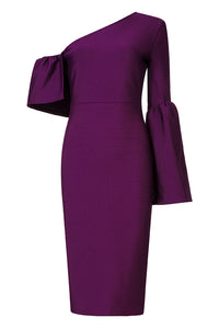 Olivia Bandage Dress-Purple
