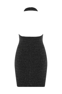 Scarlett Halter Backless Bodycon Dress- Black