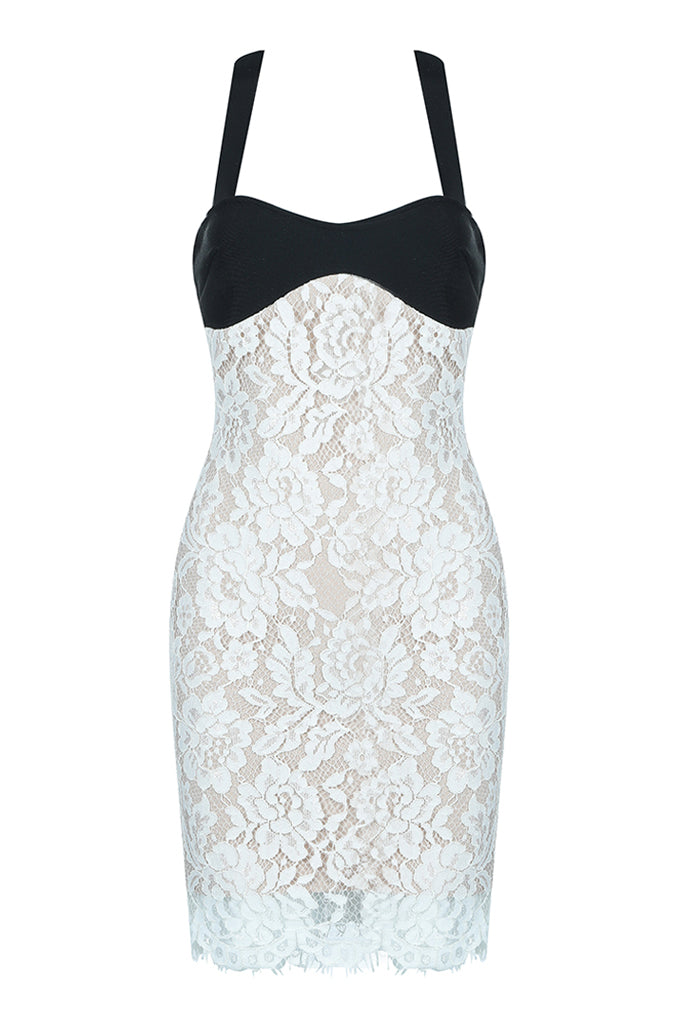 Kaisha Halter Lace Bandage Dress