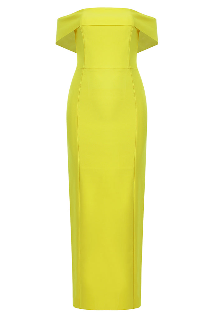 Carrie Bandage Dress-Yellow