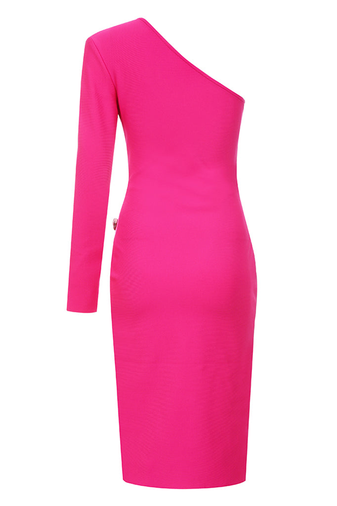 Angie Bandage Dress-Rose Red