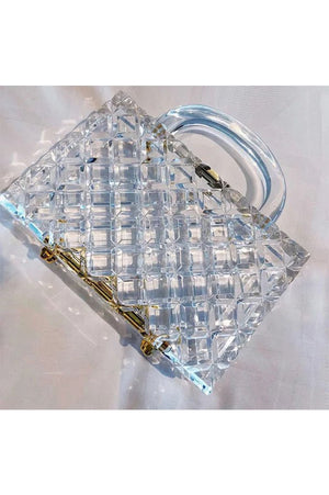 Bel Air Lucite Clutch