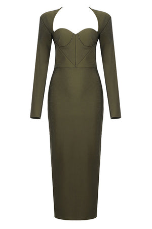 Embe Bandage Dress | Dark Green