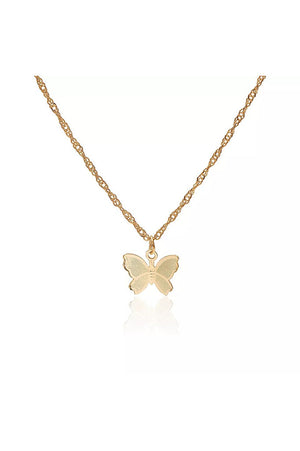 Flutters Necklace Gold
