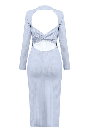 Rosalyn Bandage Dress-Blue