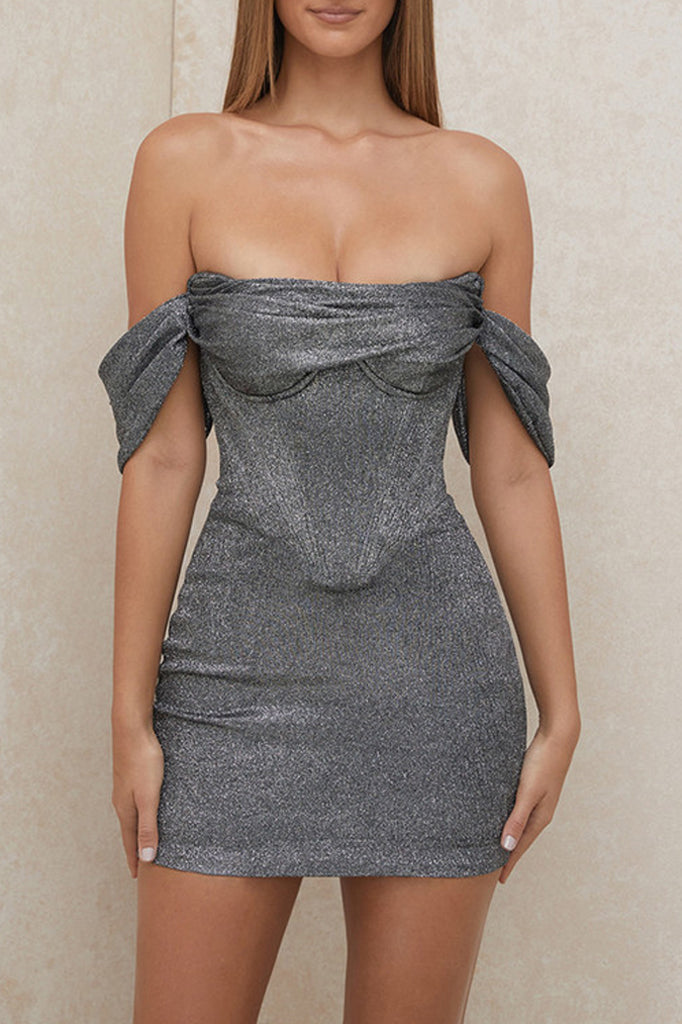 Adrianna Mini Dress | Silver