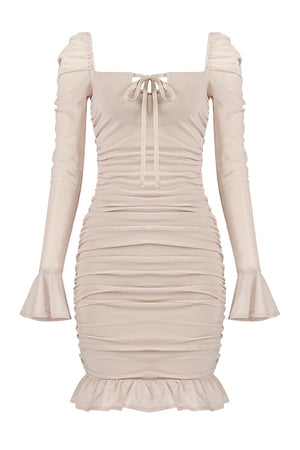 Sophia Bandage Mini Dress | Nude