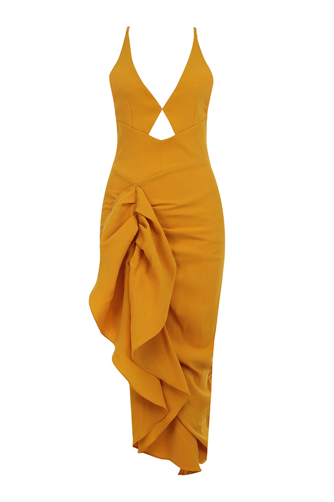 Adelina Midi Dress | Yellow