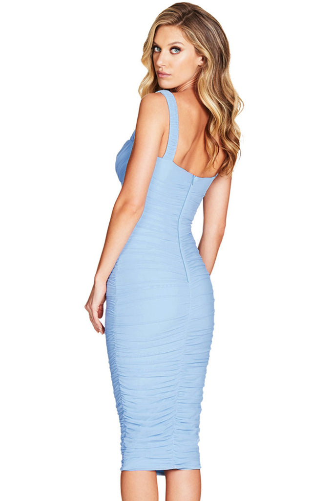 Vivian Bandage Dress-Blue