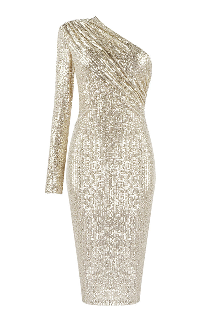 Brooklynn Midi Dress | Gold