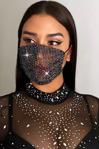 Cristal Face Mask - Black