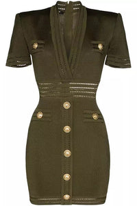 Lavina Dress - Khaki