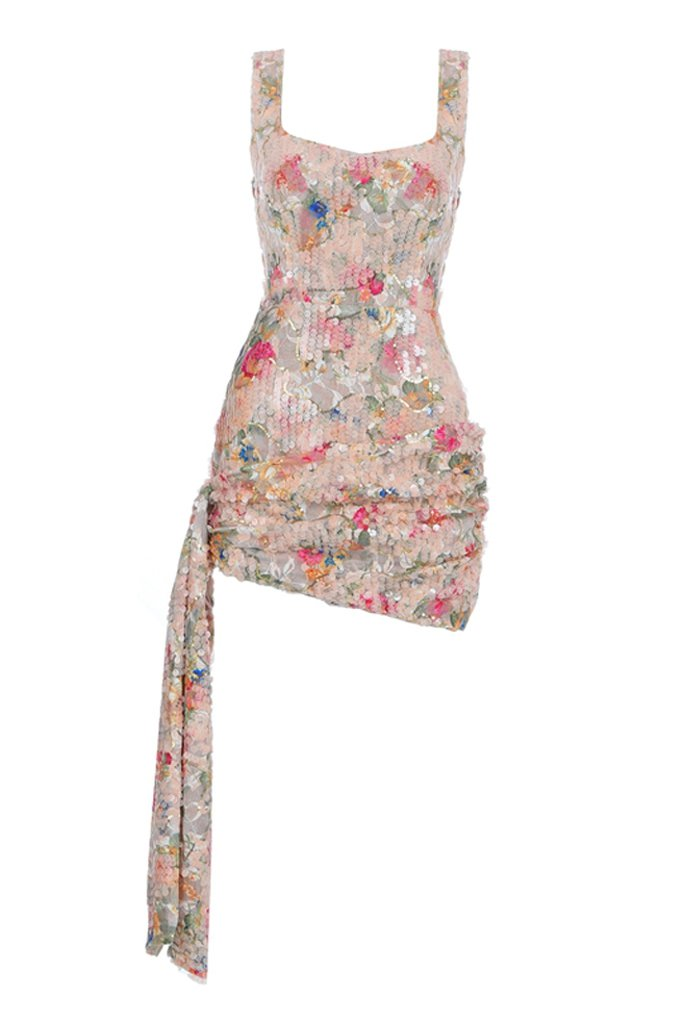 Bess Floral Sequins Dress