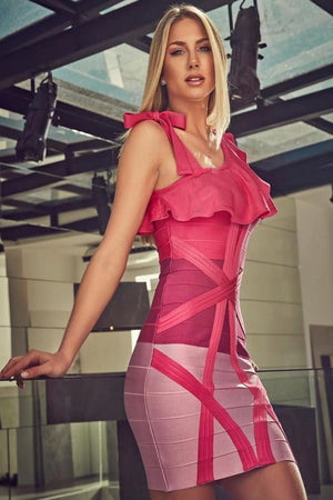 Mavis Bandage Mini Dress | Pink
