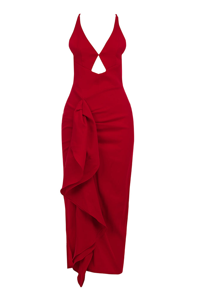 Adelina Midi Dress | Red