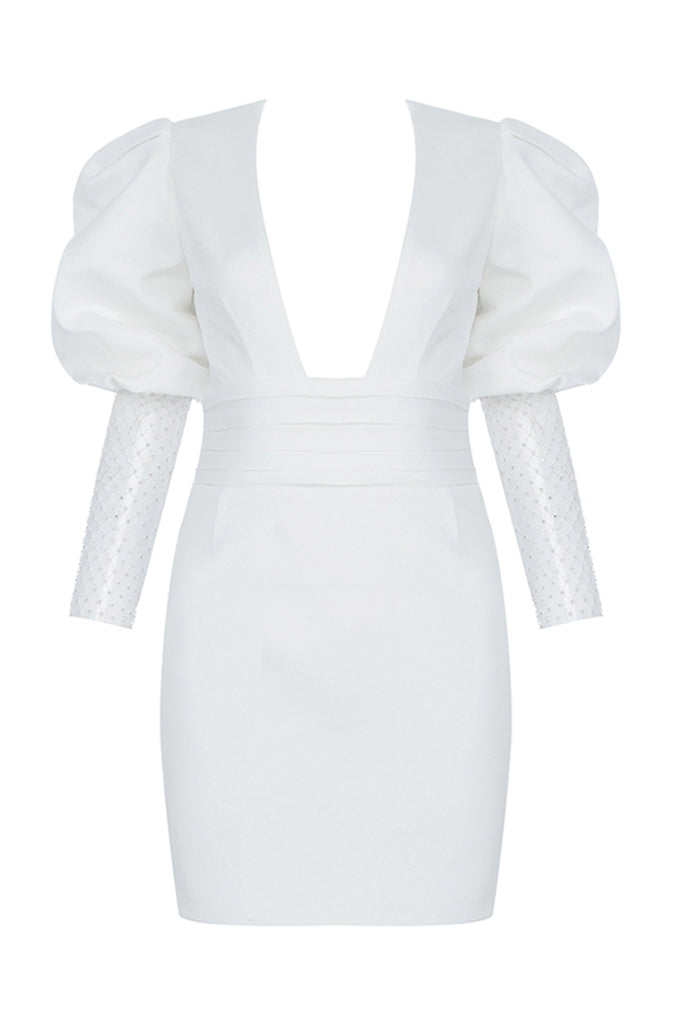 Delilah Mini Dress | White