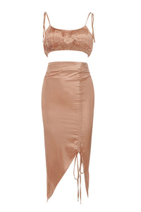 Tess Two Piece Set | Champagne